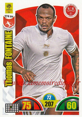 2018-19 - Panini Adrenalyn XL Ligue 1 - N° 274 bis - Thomas FONTAINE (Reims)