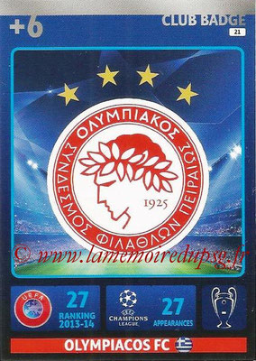 2014-15 - Adrenalyn XL champions League N° 021 - Logo Olympiacos FC (Club Badge)