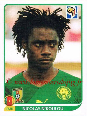 2010 - Panini FIFA World Cup South Africa Stickers - N° 397 - Nicolas N'KOULOU (Cameroun)