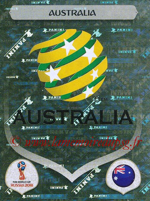 2018 - Panini FIFA World Cup Russia Stickers - N° 212 - Ecusson Australie