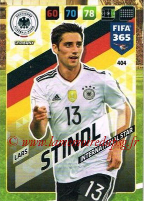 2017-18 - Panini FIFA 365 Cards - N° 404 - Lars STINDL (Allemagne) (International Star)