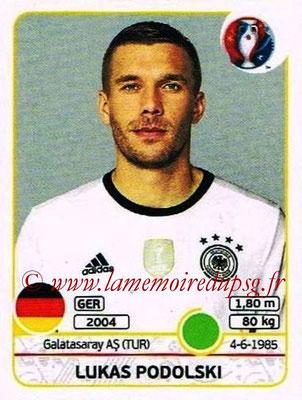 Panini Euro 2016 Stickers - N° 258 - Lukas PODOLSKI (Allemagne)