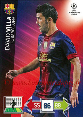 2012-13 - Adrenalyn XL champions League N° 040 - David VILLA (FC Barcelone)