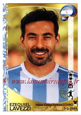 Panini Copa America Centenario USA 2016 Stickers - N° 322 - Ezequiel LAVEZZI (Argentine)