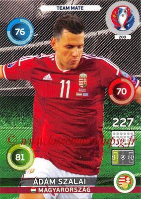 Panini Euro 2016 Cards - N° 200 - Adam SZALAI (Hongrie)