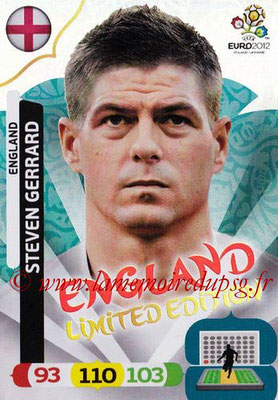 Panini Euro 2012 Cards Adrenalyn XL - N° LE14 - Steven GERRARD (Angleterre) (Limited Edition)