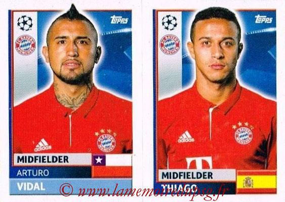 2016-17 - Topps UEFA Champions League Stickers - N° BMU 12-13 - THIAGO + Arturo VIDAL (FC Bayern Munich)