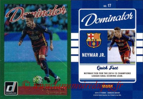2016 - Panini Donruss Cards - N° D17 - NEYMAR Jr.(FC Barcelone) (Dominator)