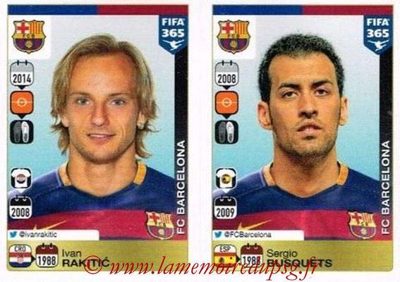 2015-16 - Panini FIFA 365 Stickers - N° 363-364 - Ivan RAKITIC + Sergio BUSQUETS (FC Barcelone)