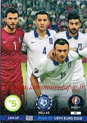 Panini Road to Euro 2016 Cards - N° 097 - Equipe Grèce 1