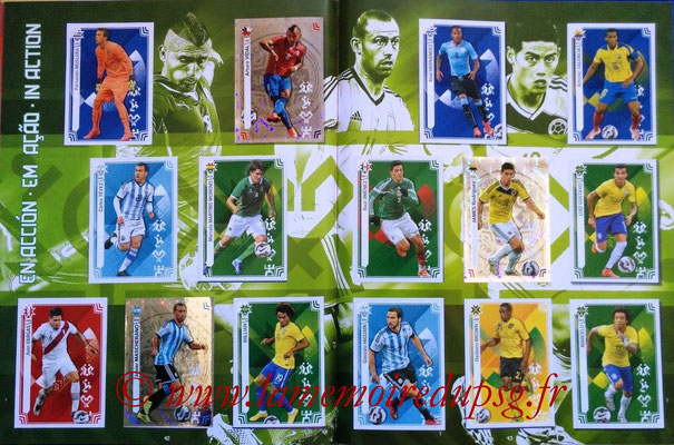 Panini Copa America Chile 2015 Stickers - Pages 42 et 43 - En action