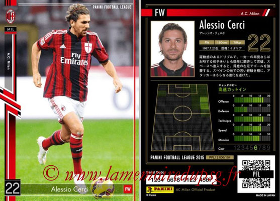 Panini Football League 2015 - PFL12 - N° 006 - Alessio CERCI (Milan AC)
