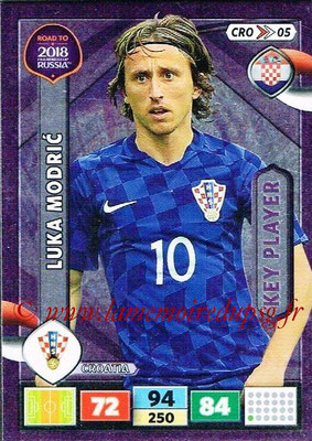 2018 - Panini Road to FIFA World Cup Russia Adrenalyn XL - N° CRO05 - Luka MODRIC (Croatie) (Key Player)