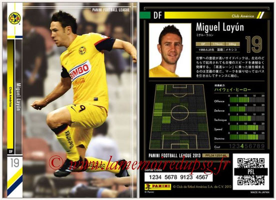 Panini Football League 2013 - PFL04 - N° 125 - Miguel LAYUN (Club América)