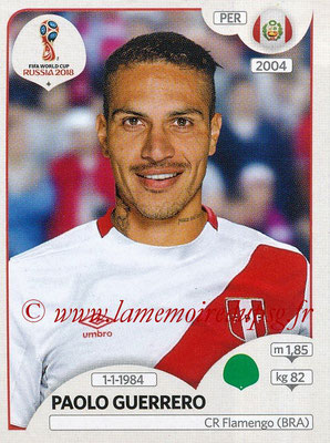2018 - Panini FIFA World Cup Russia Stickers - N° 248 - Paolo GUERRERO (Pérou)