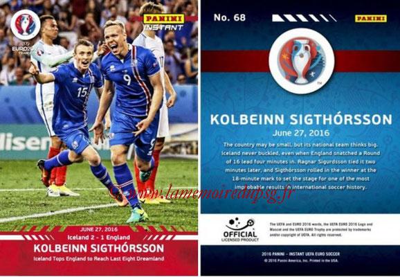 Panini Instant Euro 2016 - N° 068 - Kolbeinn SIGHTORSSON