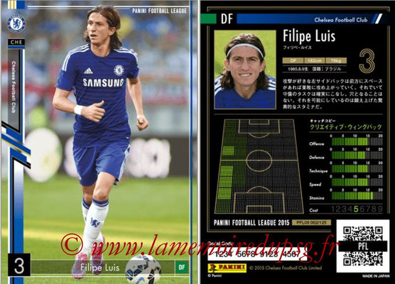 Panini Football League 2015 - PFL09 - N° 062 - Filipe LUIS (Chelsea FC)