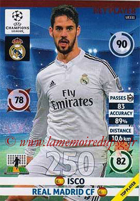 2014-15 - Adrenalyn XL champions League Update edition N° UE111 - ISCO (Real Madrid) (Key Player)