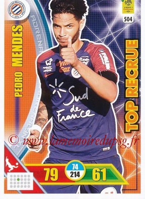 2017-18 - Panini Adrenalyn XL Ligue 1 - N° 504 - Pedro MENDES (Montpellier) (Top Recrue)