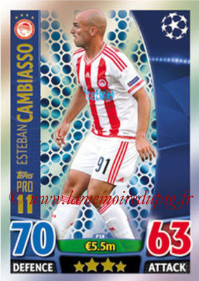 2015-16 - Topps UEFA Champions League Match Attax - N° P18 - Esteban CAMBIASSO (Olympiacos FC) (Pro 11)