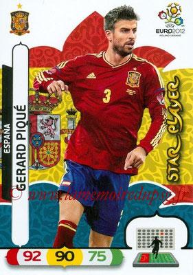 Panini Euro 2012 Cards Adrenalyn XL - N° 062 - Gerard PIQUÉ (Espagne) (Star Player)