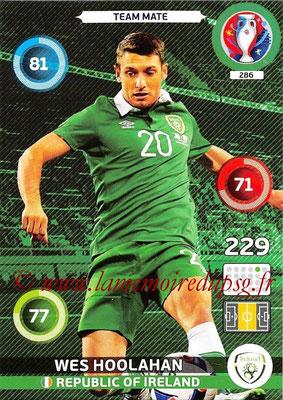 Panini Euro 2016 Cards - N° 286 - Wes HOOLAHAN (République d Irlande)
