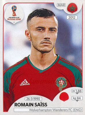 2018 - Panini FIFA World Cup Russia Stickers - N° 157 - Romain SAISS (Maroc)