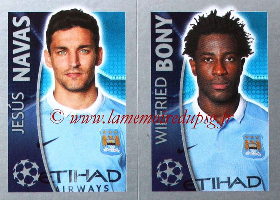 2015-16 - Topps UEFA Champions League Stickers - N° 262 - Jesùs NAVAS + Wilfried BONY (Manchester City FC)