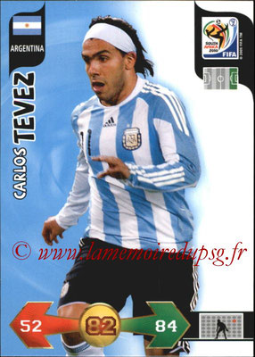 2010 - Panini FIFA World Cup South Africa Adrenalyn XL - N° 017 - Carlos TEVEZ (Argentine)