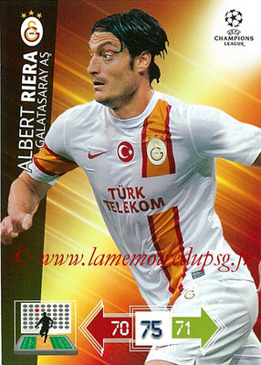 2012-13 - Adrenalyn XL champions League N° 105 - Albert RIERA (Galatasaray AS)