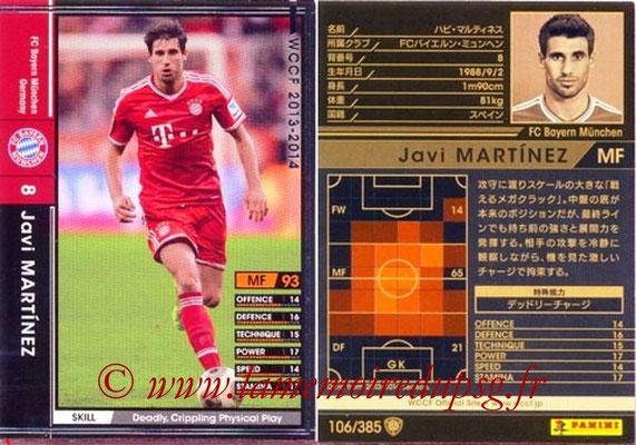 2013-14 - WCCF - N° 106 - Javi MARTINEZ (FC Bayern Munich)