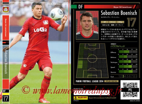 Panini Football League 2014 - PFL06 - N° 100 - Sebastian BOENISCH (Bayer 04 Leverkusen)