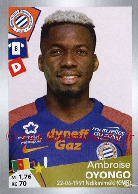 2017-18 - Panini Ligue 1 Stickers - N° T23 - Ambroise  OYONGO (Montpellier) (Transfert)