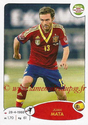 2014 - Panini Road to FIFA World Cup Brazil Stickers - N° 141 - Juan MATA (Espagne)