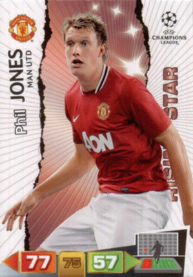 2011-12 - Panini Champions League Cards - N° 147 - Phil JONES (Manchester United FC) (Rising Star)
