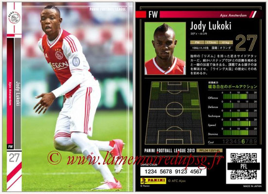 Panini Football League 2013 - PFL04 - N° 120 - Jody LUKOKI (Ajax Amsterdam)