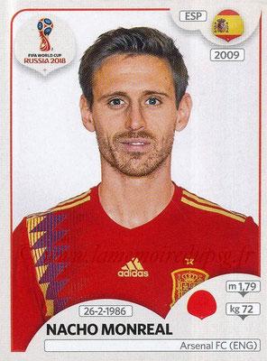 2018 - Panini FIFA World Cup Russia Stickers - N° 137 - Nacho MONREAL (Espagne)