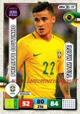2018 - Panini Road to FIFA World Cup Russia Adrenalyn XL - N° BRA17 - Philippe COUTINHO (Brésil)