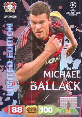 2011-12 - Panini Champions League Cards - N° LE09 - Michael BALLACK (Bayer 04 Leverkusen) (Limited Edition)