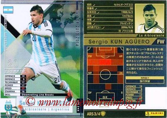 2013-14 - WCCF - N° ARS3 - Sergio KUN AGUERO (Argentine) (Argentine Superstars)