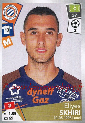 2017-18 - Panini Ligue 1 Stickers - N° 300 - Ellyes SKHIRI (Montpellier)