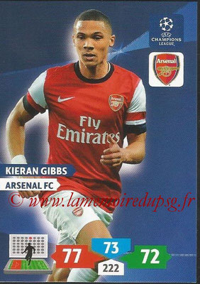 2013-14 - Adrenalyn XL champions League N° 048 - Kieran GIBBS (Arsenal FC)