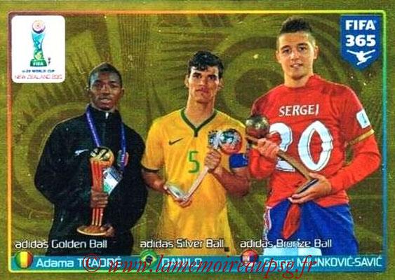 2015-16 - Panini FIFA 365 Stickers - N° 053 - Adama TRAORE (Golden) + DANILO (Silver) + Sergej MILINKOVIC (Bronze) (FIFA U20 World Cup)