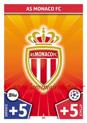 2017-18 - Topps UEFA Champions League Match Attax - N° 235 - Logo AS Monaco (Club Badge)