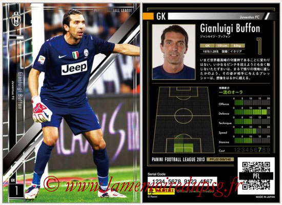 Panini Football League 2013 - PFL02 - N° 009 - Gianluigi Buffon ( Juventus FC )