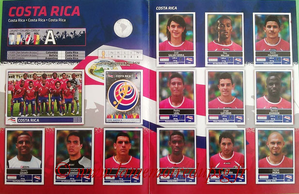 Panini Copa América Argentina 2011 - Pages sup - Costa Rica