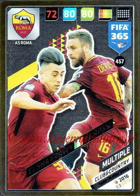 2017-18 - Panini FIFA 365 Cards - N° 457 - Stephan EL SHAARAWY + Daniele DE ROSSI (AS Roma) (Club & Country)