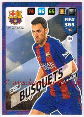 2017-18 - Panini FIFA 365 Cards - N° 110 - Sergio BUSQUETS (FC Barcelone)
