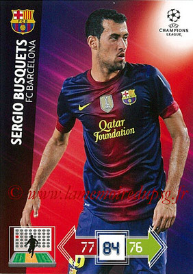2012-13 - Adrenalyn XL champions League N° 033 - Sergio BUSQUETS (FC Barcelone