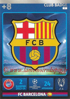 2014-15 - Adrenalyn XL champions League N° 007 - Logo FC Barcelone (Club Badge)